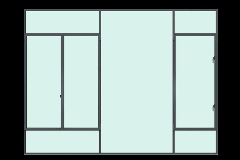 MHB stalen ramen voorkant rendering stalen kozijnen
