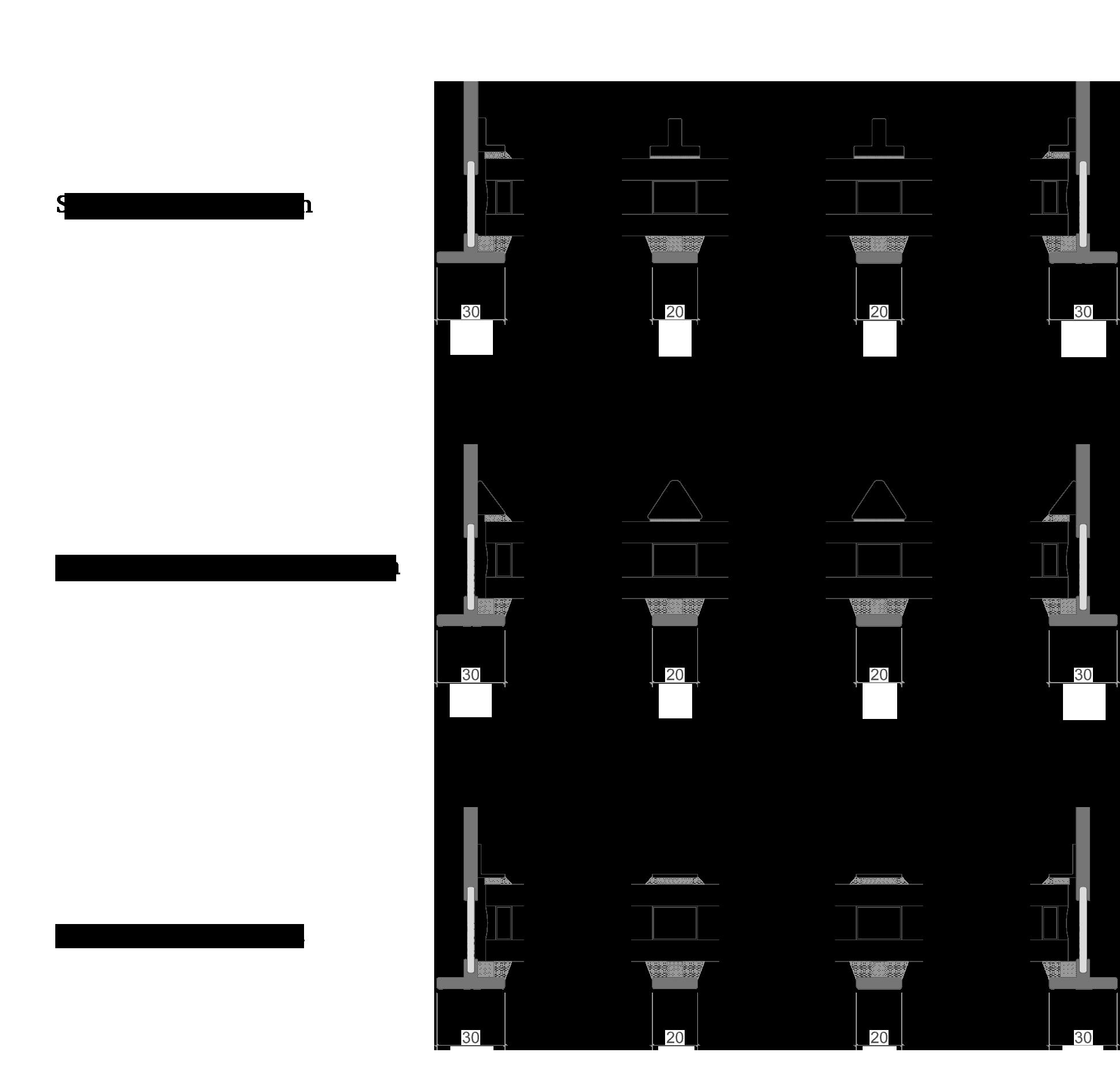 Overzicht van de simulated divided lites (SDL) voor SL30-ISO - NL