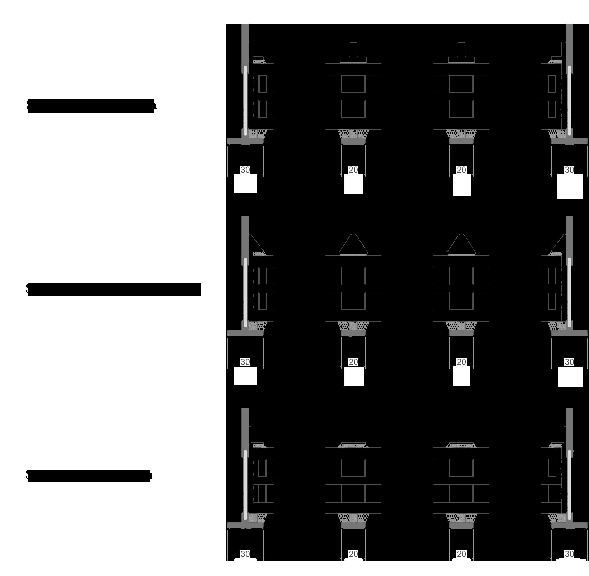 Overzicht van de simulated divided lites (SDL) voor SL30-ISO-PLUS - NL