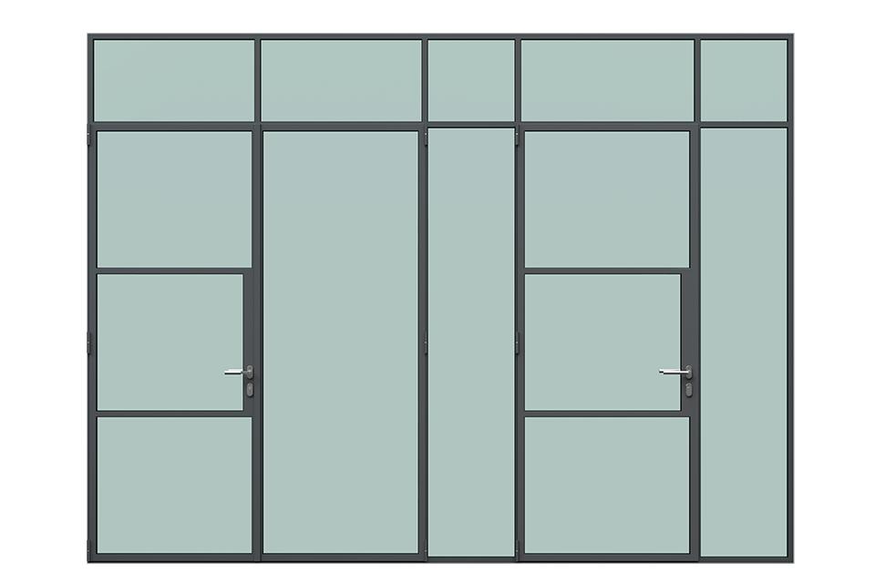 MHB Partial lock mullion doors
