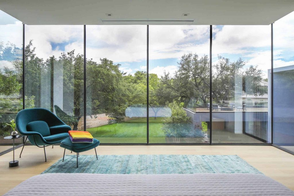 MHB SL30-ISO Project in USA the Taula house uizicht op de tuin