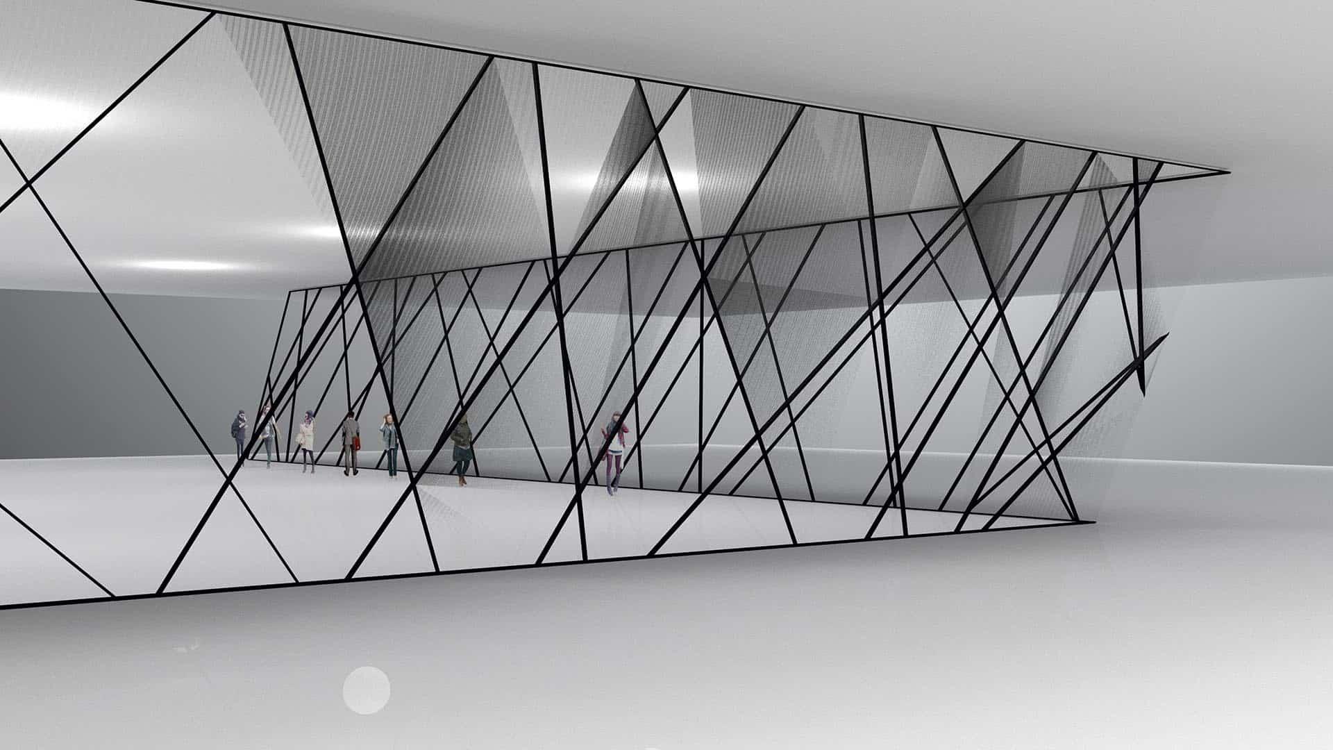 3D rendering van een concept welke mogelijk is met MHB profielsystemen