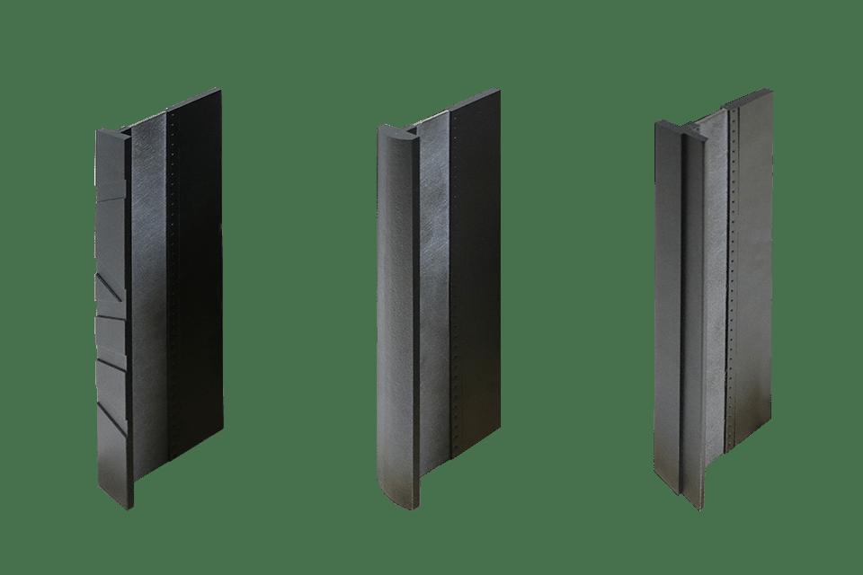 Drie MHB profielen met verschillende detailering